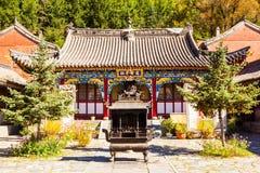 Wutaishan(Mount Wutai) scene-Courtyard of of Longquan temple. Royalty Free Stock Photography