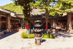 Wutaishan(Mount Wutai) scene. Courtyard of Puhua temple. Stock Images