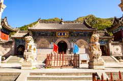 Wutaishan(Mount Wutai) scene-Longquan temple main gate. Royalty Free Stock Photo