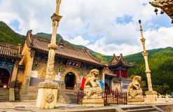 Wutaishan(Mount Wutai) scene-Longquan temple main gate. Stock Photos