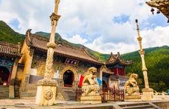 Wutaishan(Mount Wutai) scene-Longquan temple main gate. Stock Photos