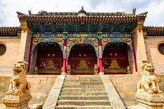 Wutaishan(Mount Wutai) scene-Longquan temple main gate. Stock Image