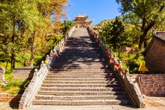 Wutaishan(Mount Wutai) scene-Longquan temple main gate. Royalty Free Stock Image