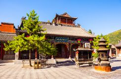 Wutaishan(Mount Wutai) scene-Manjusri(Wenshu) Hall of Wuye temple Royalty Free Stock Photography