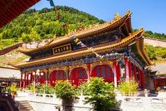 Wutaishan(Mount Wutai) scene. Third temple(sansheng hall) of Baiyun temple. Royalty Free Stock Image