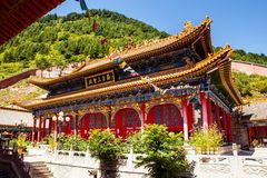 Wutaishan(Mount Wutai) scene-Third temple(sansheng hall) of Baiyun temple Royalty Free Stock Photography