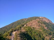 The beautiful scenery of the peak of wutong. Wutong mountain scenic area is located in east longitude 113 ° 17 `~ 114 ° 18`, north latitude 22 ° 23 `~ 22 ° Royalty Free Stock Images