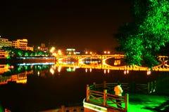 Wutongqiao natt Arkivfoton
