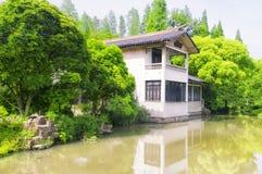 Wuxi Κίνα οικοδόμησης Taihu Στοκ Εικόνα