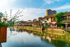 Historic scenic old town Wuzhen, China Royalty Free Stock Image