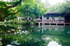 Wuxi Huishan Ancient Town Scenery. Huishan Ancient Town is located in the west of Wuxi City, only 2.5 kilometers away from the city center, and has Shishan ruins stock photo