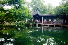 Wuxi Huishan Ancient Town Scenery. Huishan Ancient Town is located in the west of Wuxi City, only 2.5 kilometers away from the city center, and has Shishan ruins stock photos