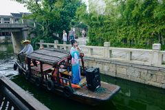 Wuxi Huishan Ancient Town Scenery. Huishan Ancient Town is located in the west of Wuxi City, only 2.5 kilometers away from the city center, and has Shishan ruins stock images
