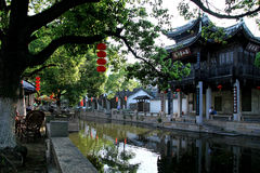 Wuxi Huishan old town scenery Royalty Free Stock Photos