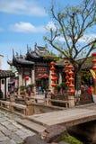 Wuxi, Jiangsu Huishan stadvägg och bågen Fotografering för Bildbyråer