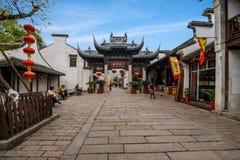 Wuxi, Jiangsu Huishan stadvägg och bågen Royaltyfri Foto