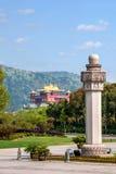 Wuxi Lingshan Buddhastaty av Buddha Arkivbilder