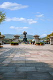 Wuxi Lingshan Giant Buddha Scenic Area in Kowloon irrigation bath Royalty Free Stock Photo