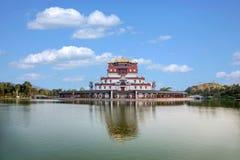 Wuxi Lingshan sceniskt område fem Yin Tan City för jätte- Buddha Royaltyfri Foto