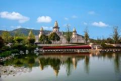 Wuxi Lingshan sceniskt område fem Yin Tan City för jätte- Buddha Arkivfoton