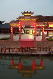 Wuxi Nanchan Temple night Stock Photo