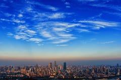 Wuxi-Stadt-Skyline lizenzfreie stockbilder