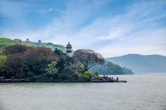 Wuxi Taihu Yuantouzhu Lighthouse Stock Images