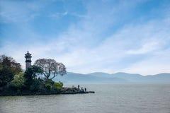 Wuxi Taihu Yuantouzhu Lighthouse Stock Photography
