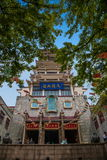 Wuxi Taihu Yuantouzhu Taihu Lake Fairy Palace Lingxiao. Lingxiao Palace is a 42-meter high tower landmark building, the main features of the main building is by royalty free stock photos