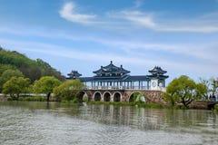 Wuxi Taihu Yuantouzhu Taihu Xiandao skallr Xianqiao royaltyfri bild