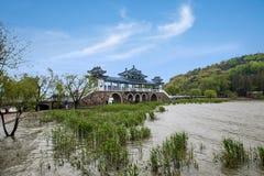 Wuxi Taihu Yuantouzhu Taihu Xiandao skallr Xianqiao royaltyfria bilder