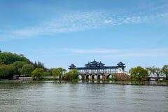 Wuxi Taihu Yuantouzhu Taihu Xiandao will Xianqiao royalty free stock photography