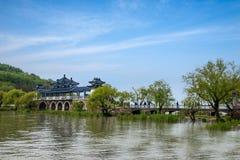 Wuxi Taihu Yuantouzhu Taihu Xiandao zal Xianqiao Royalty-vrije Stock Afbeelding