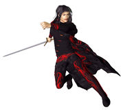 Wuxia Swordsman Stock Photo