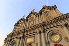 Wuxingjie-Kirche, luftgetrockneter Ziegelstein rgb Stockfotografie