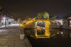 Wuyan bridge at night royalty free stock photography
