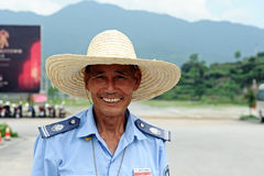 Wuyan province policemen in China Stock Images