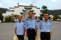 Wuyan province policemen in China Royalty Free Stock Photography