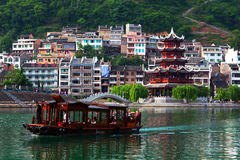 Wuyang River, China Royalty Free Stock Photo