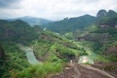 wuyi горы ландшафта Стоковые Изображения