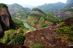 Wuyi-Berg, die danxia Geomorphologielandschaft in China lizenzfreies stockfoto