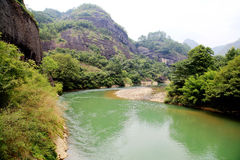 Wuyi mountain , the danxia geomorphology scenery in China Royalty Free Stock Images