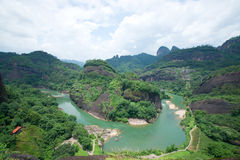 Wuyi mountain landscape Stock Images