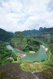 Wuyi mountain landscape Royalty Free Stock Photo
