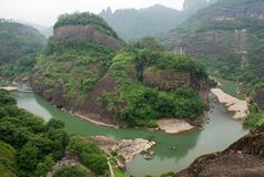 Wuyi mountain. Is a typical Danxia landform which is famous for its mountain, river and tea in southeast China. In December 1999, it was listed by UNESCO as Stock Photography