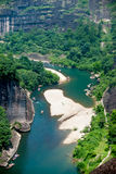 Wuyi Shan River en Chine Photos libres de droits