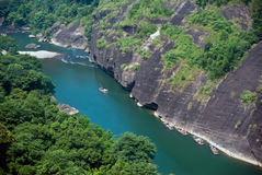 Wuyi Shan River en Chine Photos stock