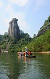 Wuyishan Bamboo Boat Ride Royalty Free Stock Photography