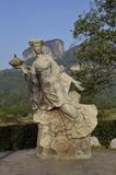 Wuyishan fairy statue. Wuyi stone fairy statue in Wuyi mountain, Nanping city, Fujian Province, China Royalty Free Stock Image