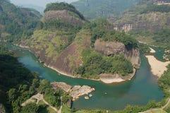 WuYiShan mountain. WuYiShan moutain In Fujian China Stock Photos